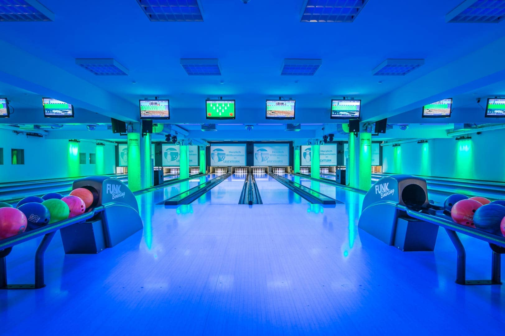 Lichtspektakel von Funk Bowling