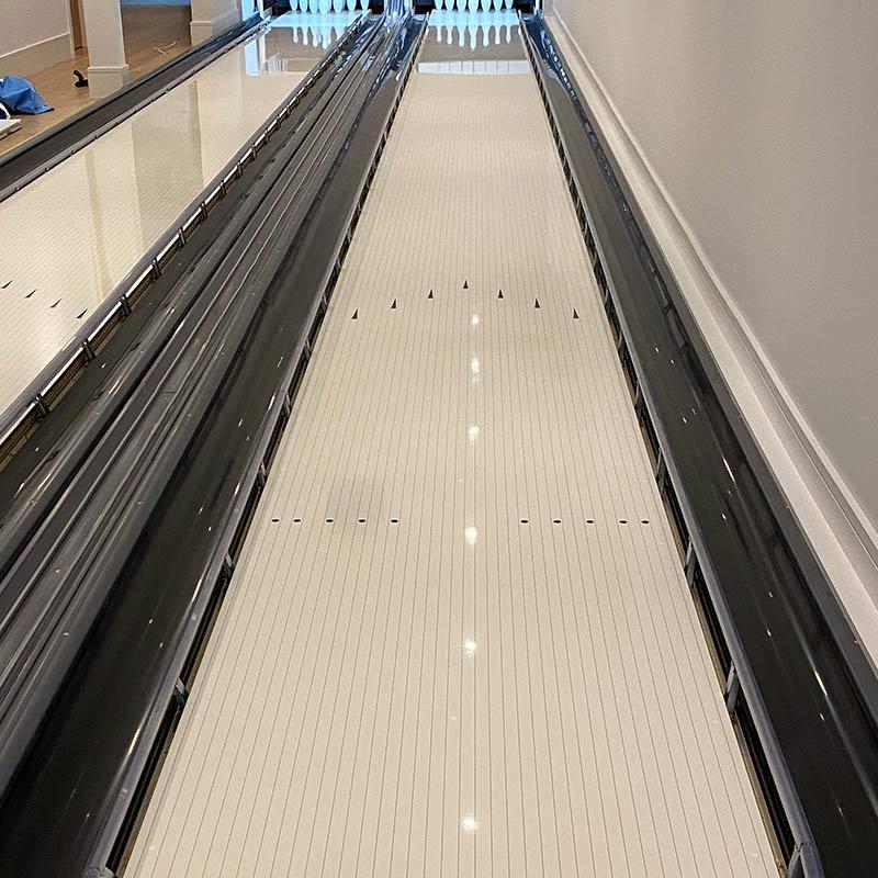 Lauffläche einer Funk Bowlingbahn